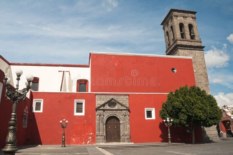 Santo Domingo church, Puebla (Mexico) royalty free stock image