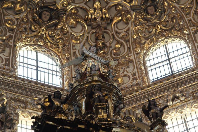 Santo Domingo Church, Puebla, Mexico. royalty free stock images