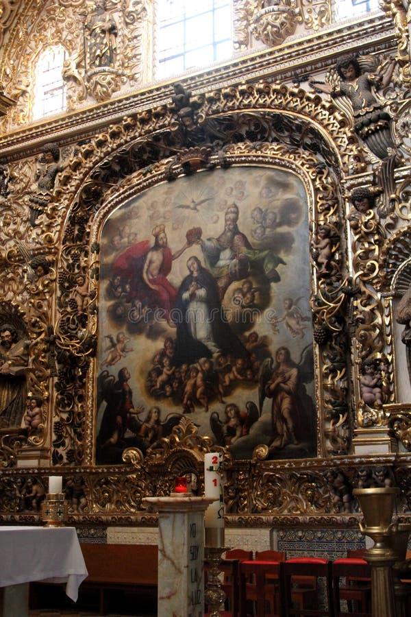 Santo Domingo Church, Puebla, Mexico. stock images