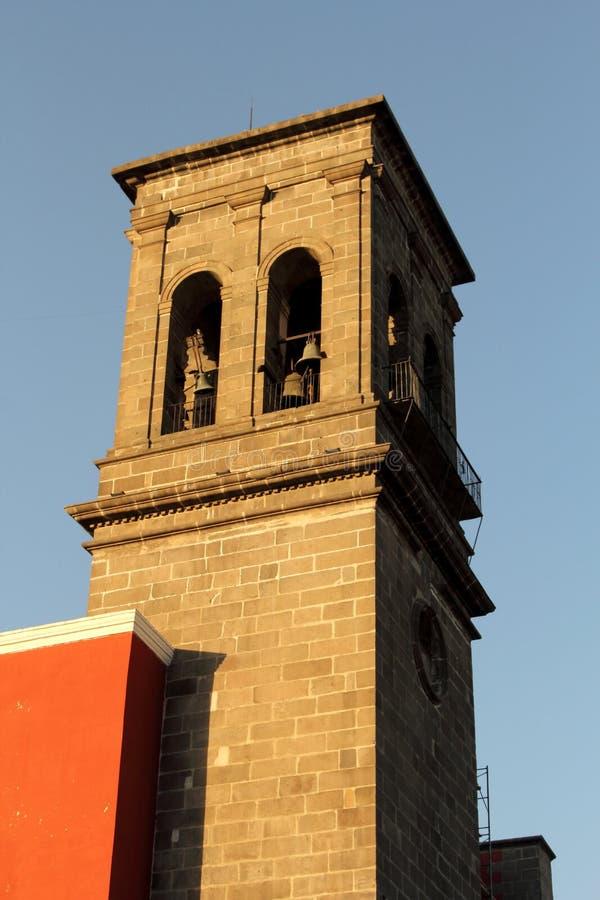 Santo Domingo Church, Puebla, Mexique photos libres de droits