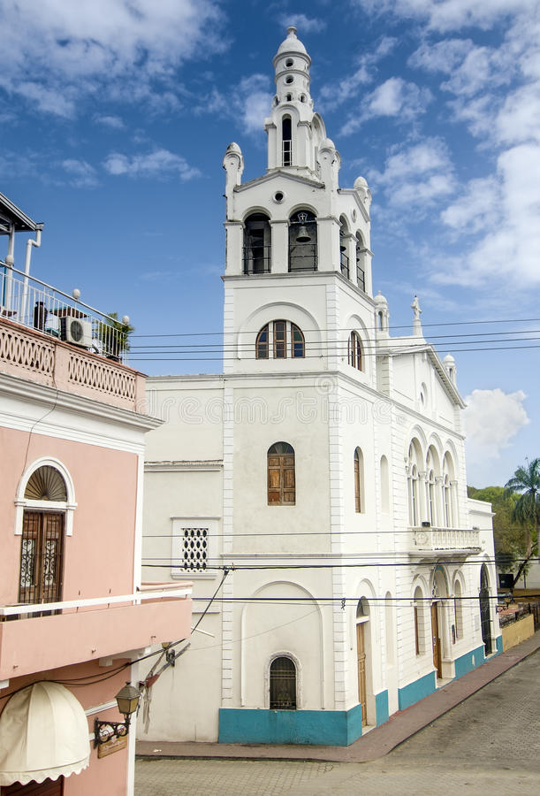 Santo Domingo Colonial Church. Altagracia Church at Sto Domingo, Dominican Republic royalty free stock images