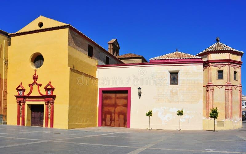 Santo Domingo de Guzman Church στη Μάλαγα, Ισπανία στοκ φωτογραφίες
