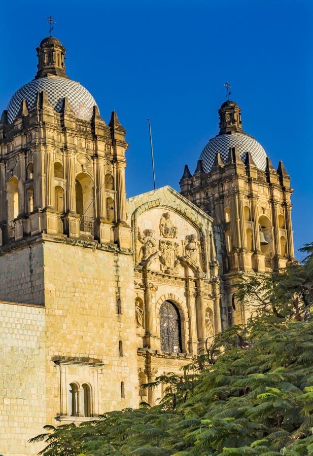 Santo Domingo de Guzman Facade Church Oaxaca Mexiko stockbilder