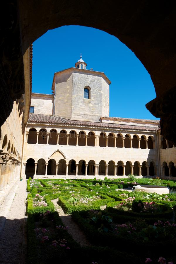 Santo Domingo de Silos. Cloister of Santo Domingo de Silos, Burgos, Castilla Leon, Spain royalty free stock photos