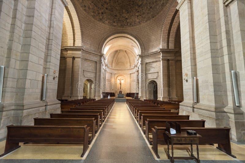 Santo Domingo de Silos, Spanje - Oktober 11, 2016: Binnenland van Th stock afbeelding