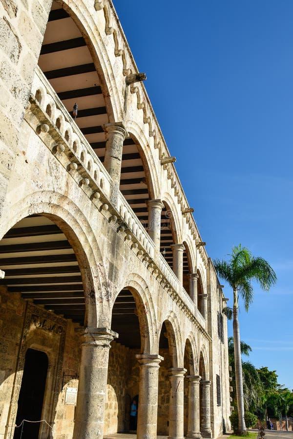 Santo Domingo, Dominicaanse Republiek Alcazar DE Colon (Diego Columbus House), Spaans Vierkant stock afbeelding