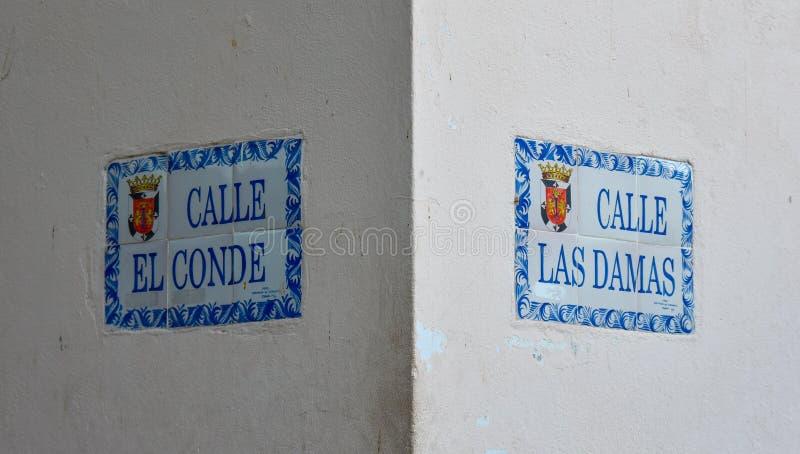 Santo Domingo, Dominican Republic. Crossroad of Las Damas and Calle El Conde street. Colonial Zone stock images