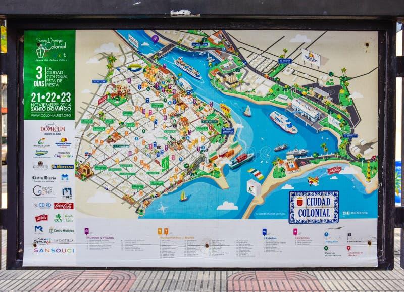 Santo Domingo Dominican Republic Map Of Colonial City In Calle El