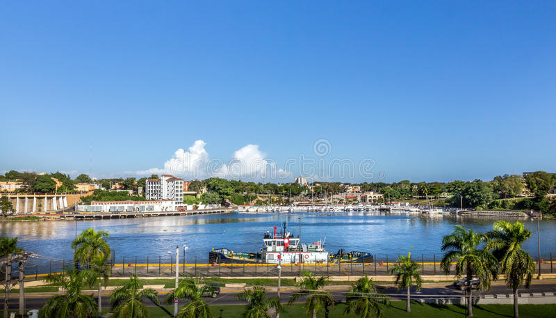 Santo Domingo harbor. Harbor of Santo Domingo in Dominican Republic royalty free stock image