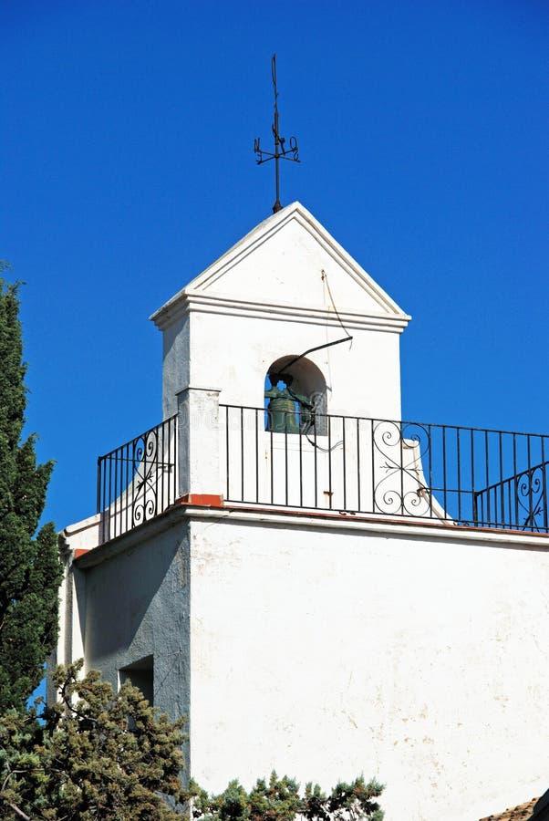 Santo Domingo-Kirche, Benalmadena-Pueblo stockfotografie