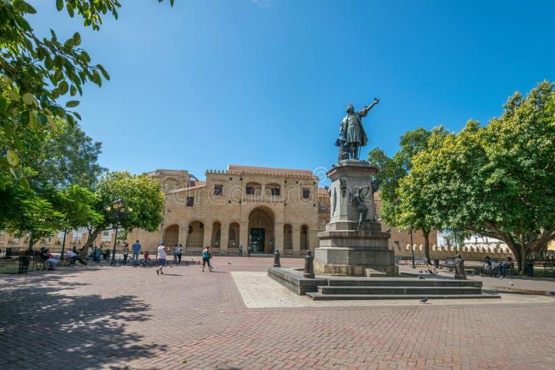 Santo Domingo Kolumb kwadrat zdjęcie royalty free