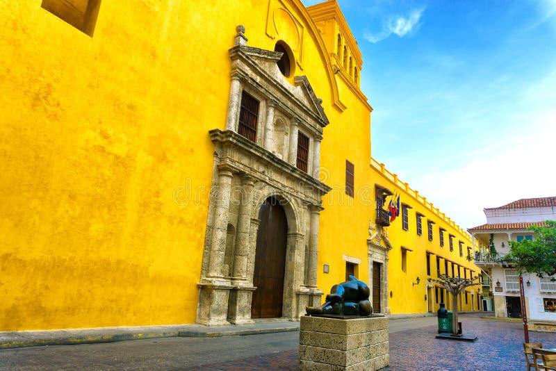 Santo Domingo Plaza à Carthagène photographie stock