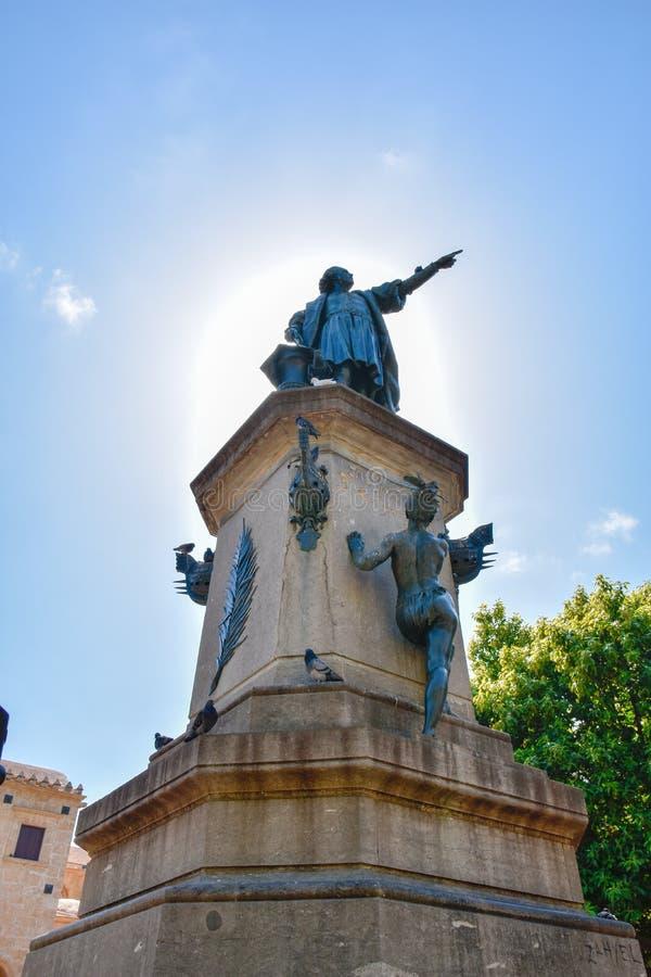 Santo Domingo, Repubblica dominicana Statua famosa di Christopher Columbus in Columbus Park fotografie stock libere da diritti