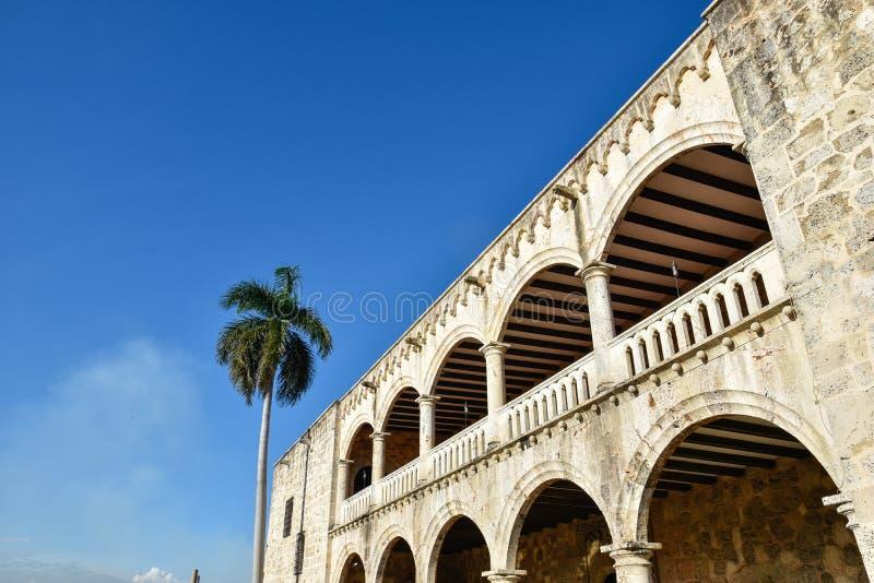 Santo Domingo, republika dominikańska Alcazar De Dwukropek, hiszpańszczyzny Obciosuje (Diego Kolumb dom) fotografia royalty free