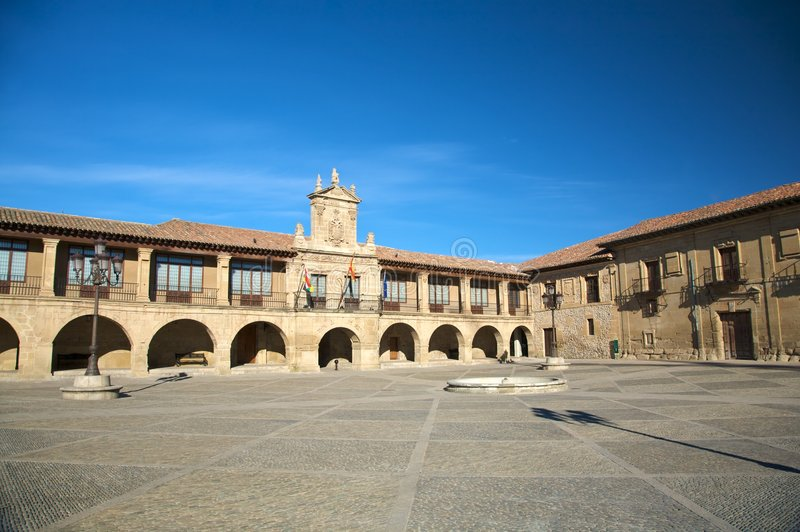 Santo domingo square. Street in santo domingo de la calzada la rioja spain royalty free stock image