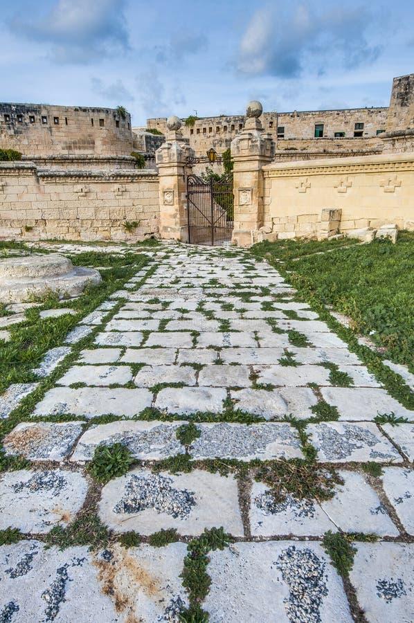 Santo Elmo del fuerte en La Valeta, Malta foto de archivo