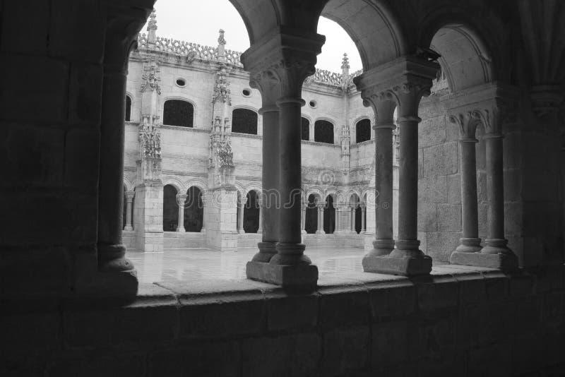 Santo Estevo Hiszpania, Kwiecień, - 17, 2019: Plateresque stylowy przyklasztorny należenie klasztor kwalifikujący jako krajowy sc obrazy royalty free