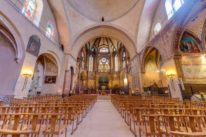 Santo Etienne Catholic en Cahors, Francia fotografía de archivo