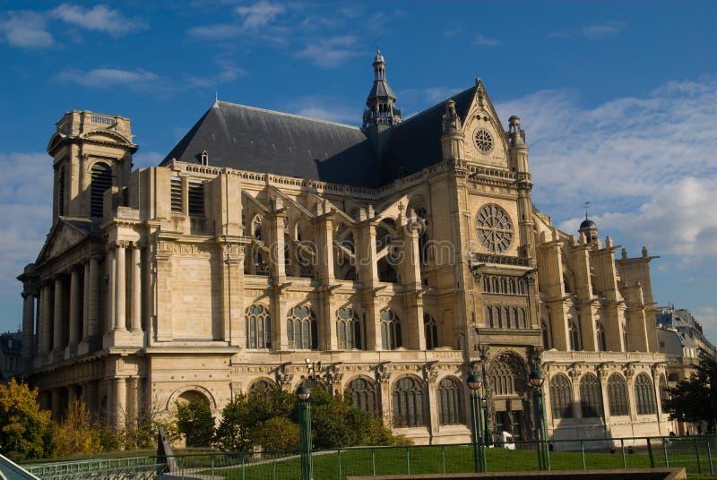 Santo Eustache, París fotos de archivo