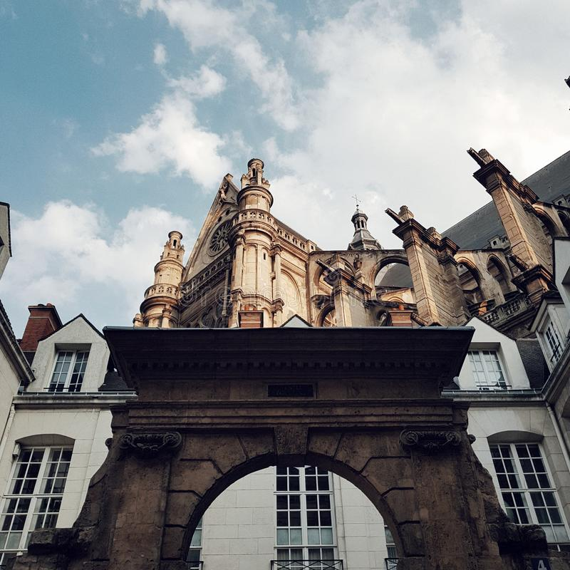 Santo Eustache, París, Francia de Egils imagenes de archivo