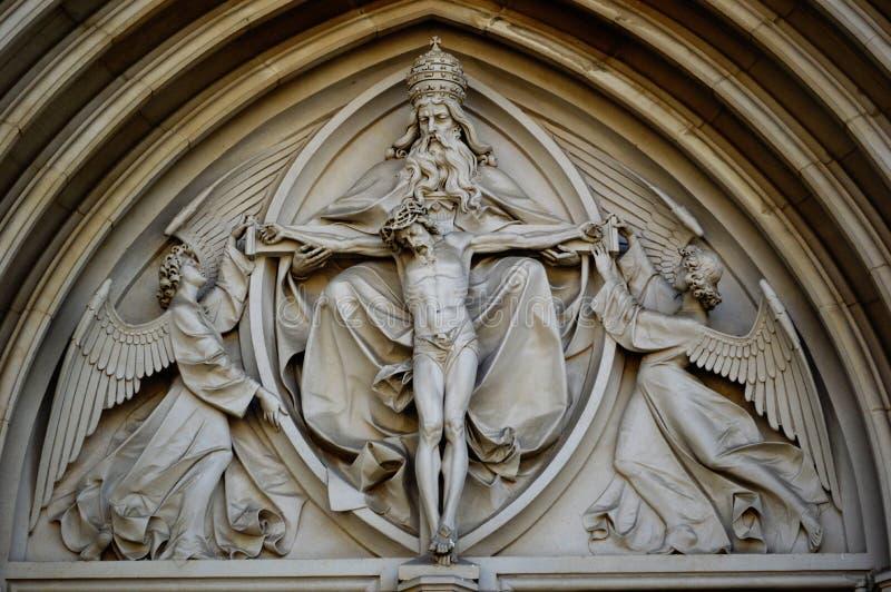 6 santo exterior Wenceslas Cathedral Olomouc Czech Republic fotografía de archivo