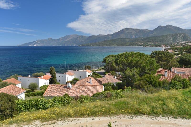 Santo-Florent corso de la ciudad costera imágenes de archivo libres de regalías