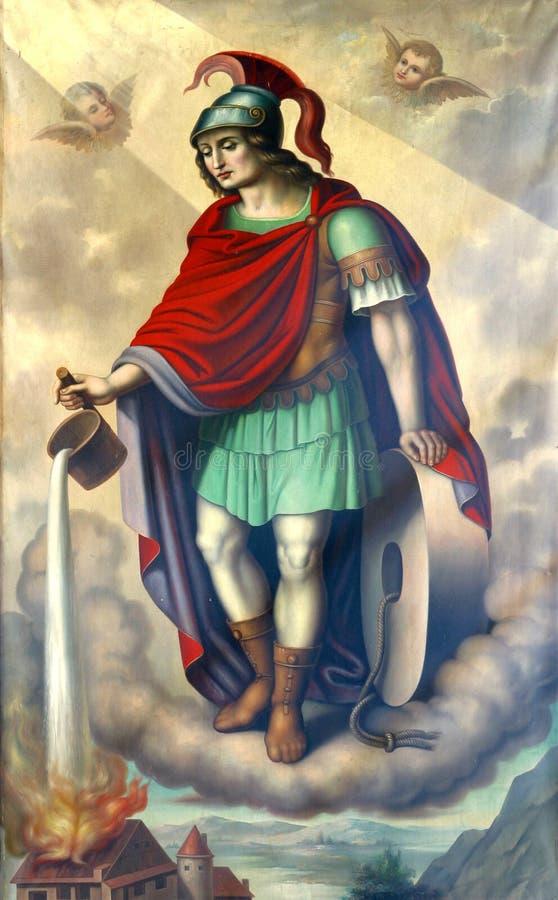 Santo Florian stock de ilustración