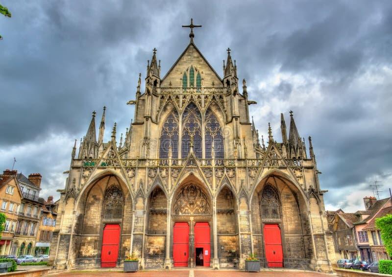 Santo gótico Urbain de la basílica de Troyes en Francia fotos de archivo libres de regalías