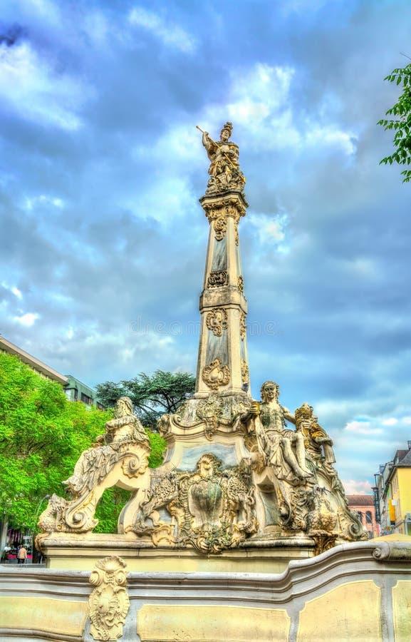 Santo George Fountain en el Trier, Alemania fotos de archivo libres de regalías