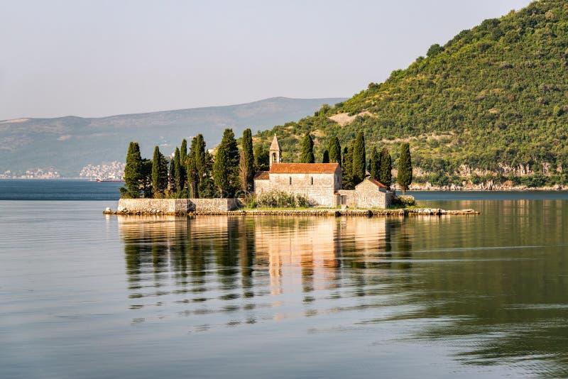Santo George Island en Montenegro fotografía de archivo