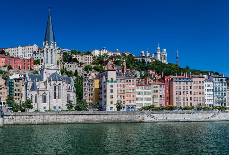 Santo Georges Church Lyon France fotos de archivo