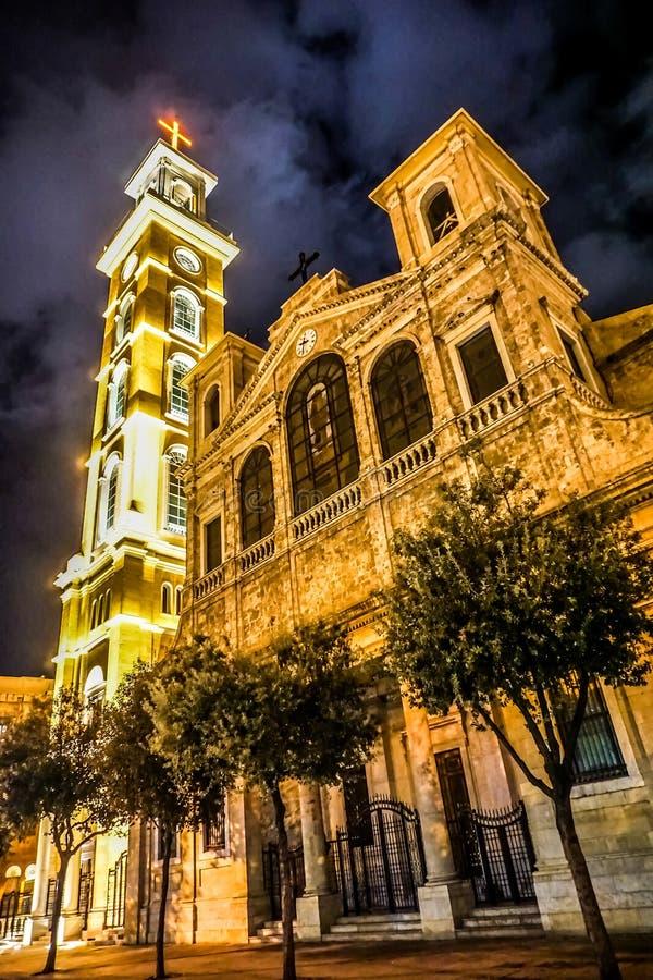 Santo Georges Maronite Cathedral 04 de Beirut imagen de archivo