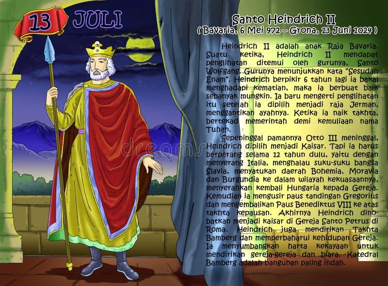 SANTO heindrich II日历基督徒idea2 库存例证