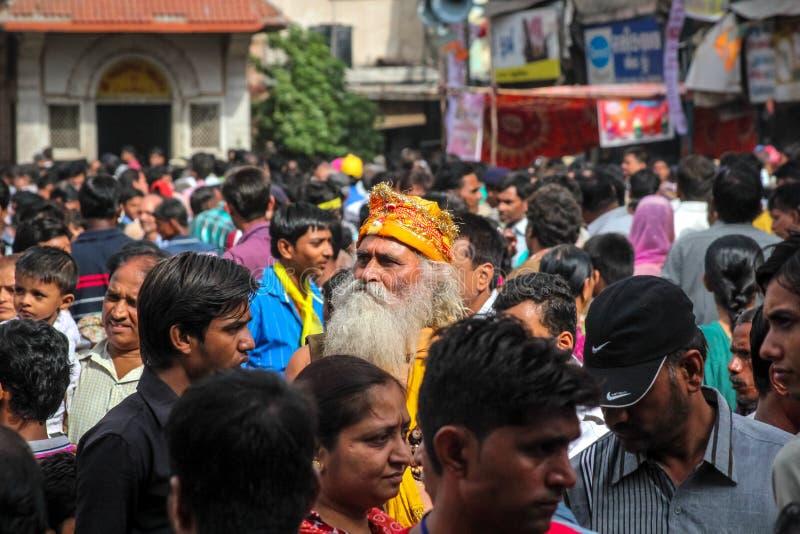 Santo hindú en cantado foto de archivo libre de regalías