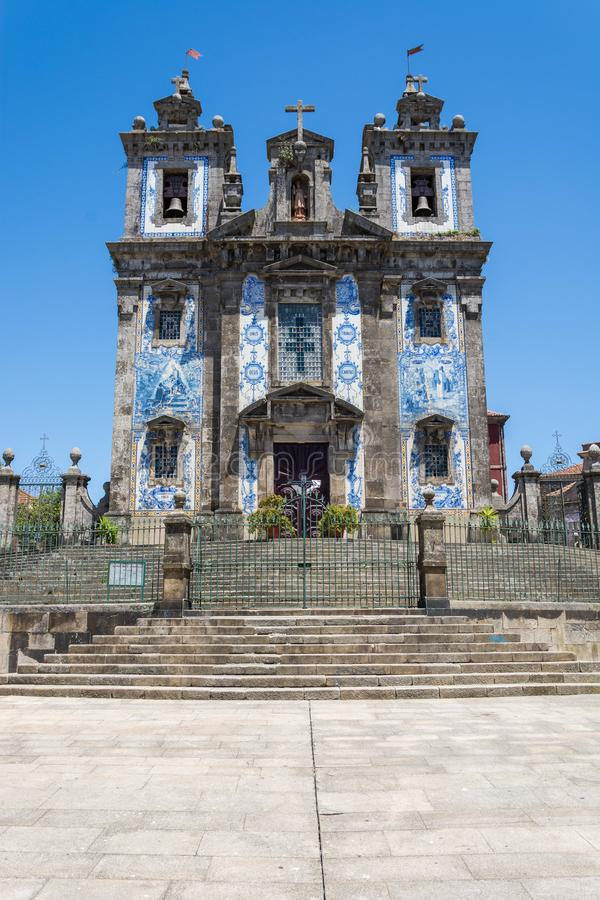 Santo Ildefonso Church Traditionele Tegels stock foto