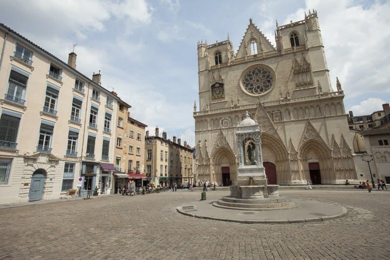 Santo-Jean-Baptiste, Lyon foto de archivo libre de regalías