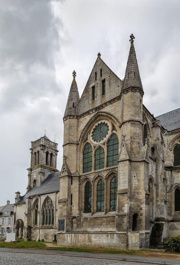 Santo Leger, Soissons, Francia de la abadía fotografía de archivo