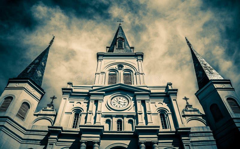 Santo Louis Cathedral de New Orleans fotos de archivo