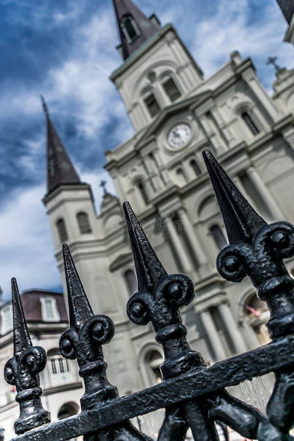 Santo Louis Cathedral del barrio francés de New Orleans imagen de archivo libre de regalías