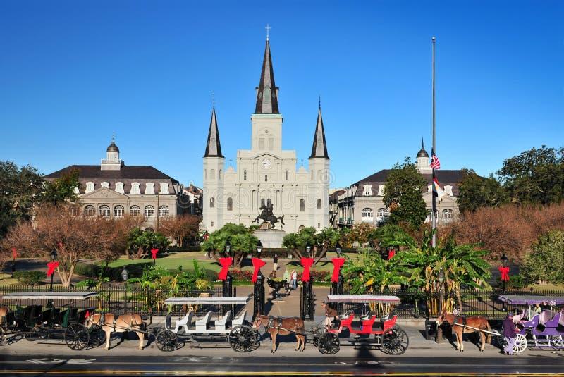 Santo Louis Cathedral, New Orleans, Luisiana los E.E.U.U. imágenes de archivo libres de regalías