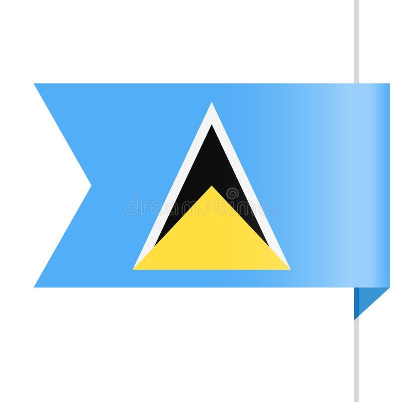 Santo Lucia Flag Vector Bookmark Icon stock de ilustración