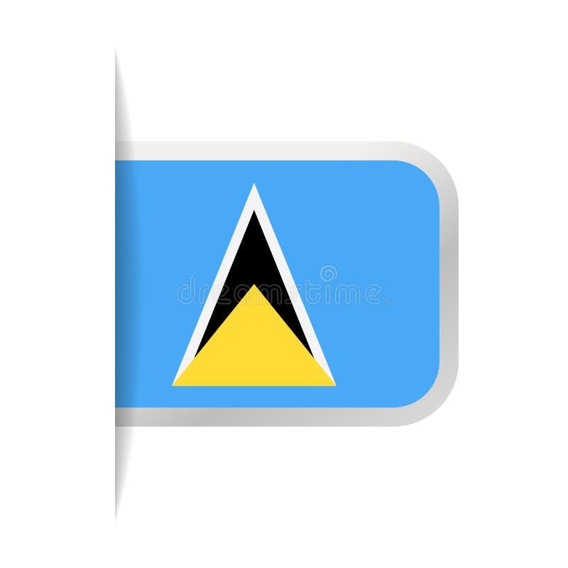 Santo Lucia Flag Vector Bookmark Icon libre illustration