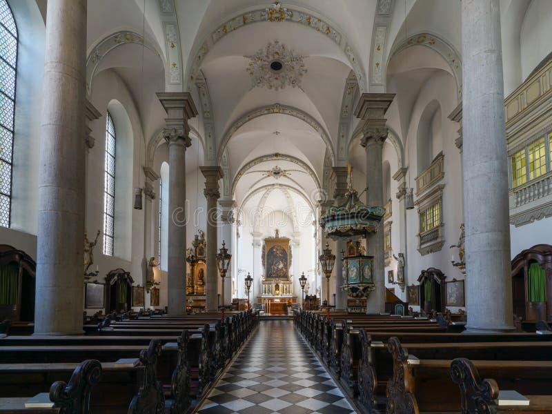 Santo Maximiliano, Duesseldorf, Alemania de la iglesia imágenes de archivo libres de regalías