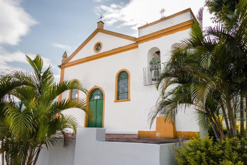 Santo Michael Archangel Church Biguaçu fotos de archivo libres de regalías