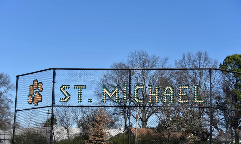 Santo Michael Private Catholic School, Memphis, TN foto de archivo