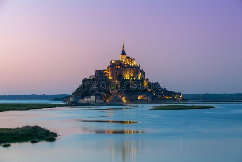Santo Miguel, Normandía, Francia de Mont fotografía de archivo