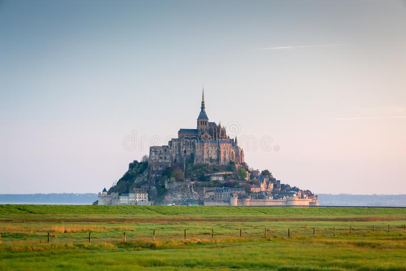 Santo Miguel, Normandía, Francia de Mont fotos de archivo