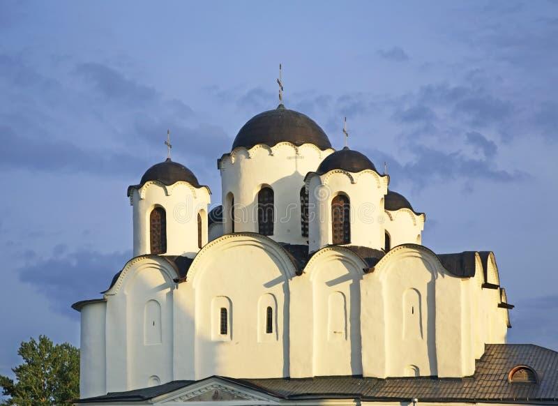Santo Nicholas Cathedral en Novgorod el grande (Veliky Novgorod) Rusia fotos de archivo libres de regalías