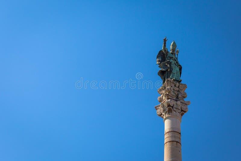 Santo Oronzo Column dans Lecce, Italie photo stock