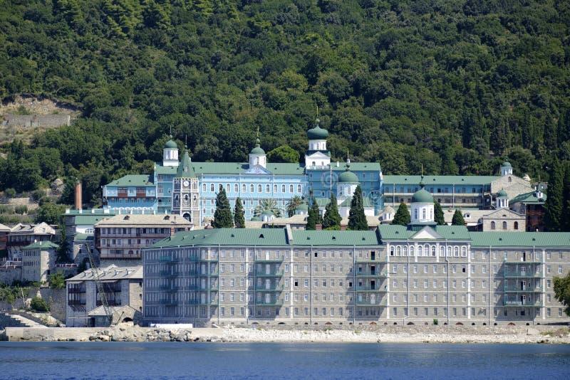 Santo Panteleimon Monastery imagen de archivo libre de regalías